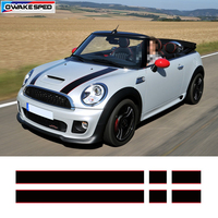 Car Hood Engine Cover Vinyl Decal Auto Rear Trunk Line Bonnet Stickers Sport Stripe For Mini Coopers F54 F55 F56 R56 R57 R58