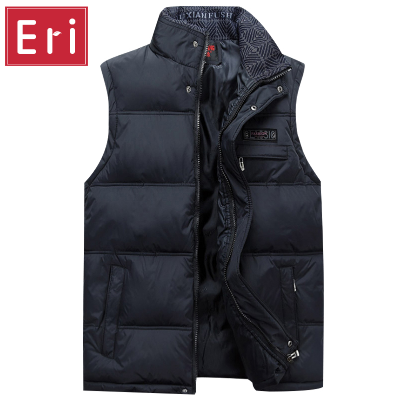 2017 Brand Men's Vest Jacket Coat Sleeveless Vests Homme Winter Casual Male Plus size 4XL Warm Jacket Vest Men Waistcoat X371