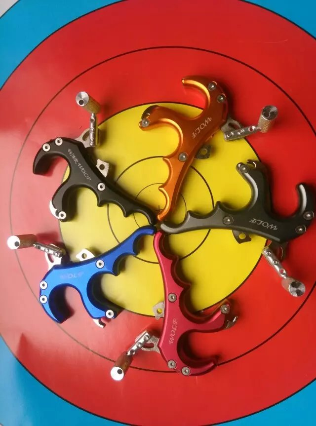 Free Shiping 4 finger grip Caliper Release aid for compound bow hunting and archery