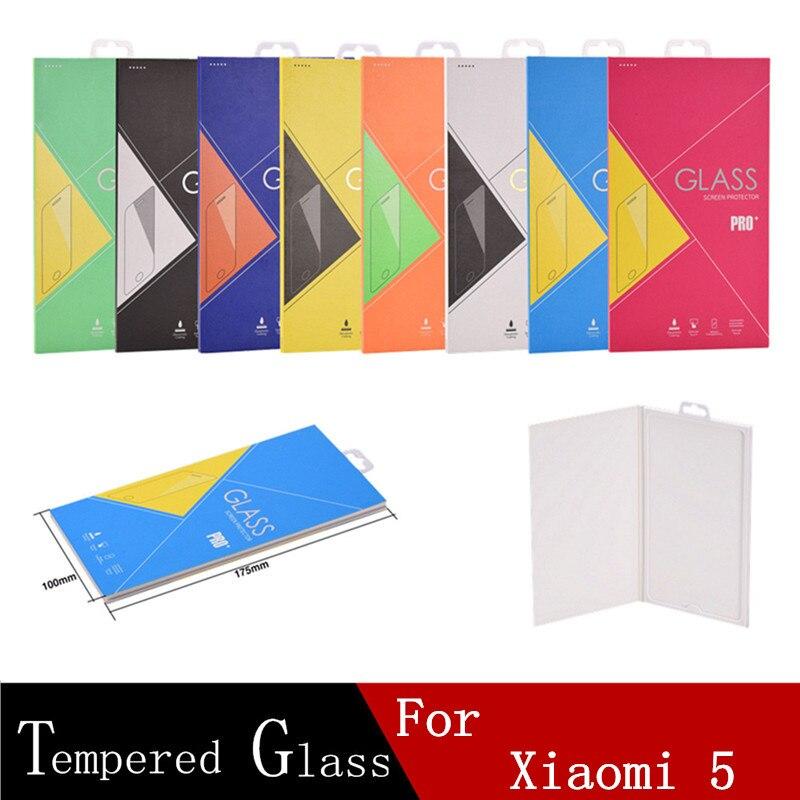 bilder für Dhl mischungsauftrag 100 stücke gehärtetem glas für xiao mi 5 phone protector film explosionsgeschützte displayschutzfolie mit verpackung