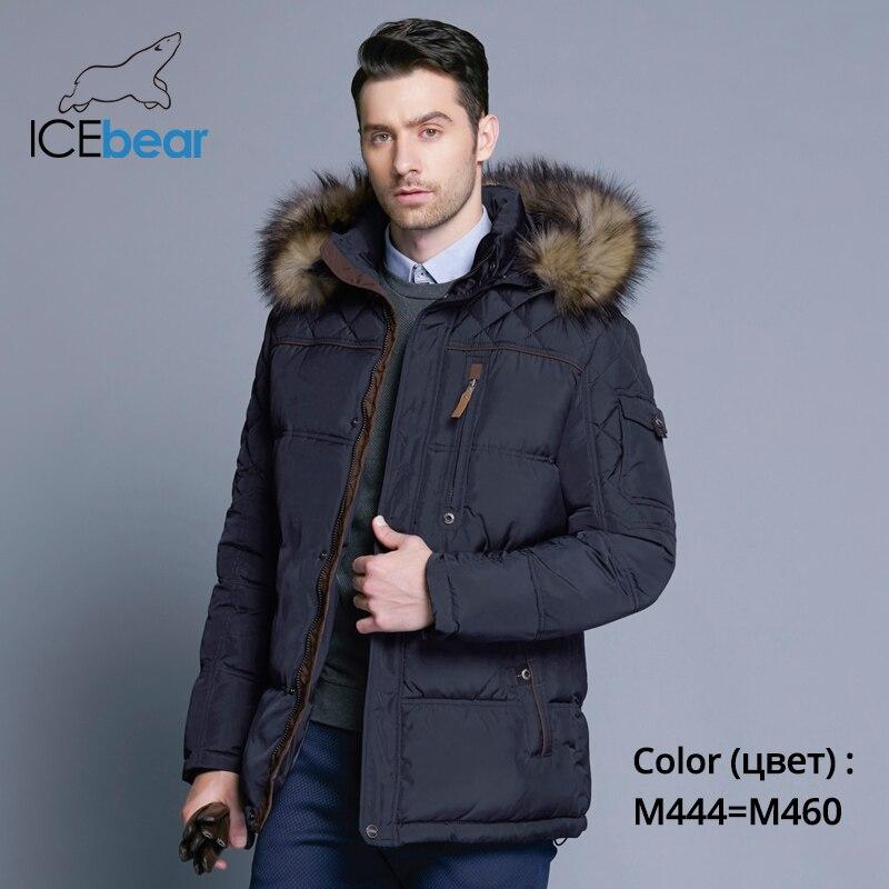 design de qualité 2484b b6a71 € 60.06 71% de réduction|ICEbear 2018 mode hiver nouvelle veste hommes  chaud manteau mode décontracté Parka moyen Long épaississement manteau ...