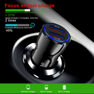 Image 3 - Phone charger usb car charger 2 Port USB Quick Charger3.0 2.0 universal for iPhone Samsung huawei htc smartphone tablet
