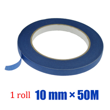 1 roll 14 days UV resistance blue masking painter tape 10 mm * 50 m size