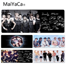 MaiYaCa Cool New Bts Signatures Durable Rubber Mouse Mat Pad Size for 30x60cm 30x90cm Rubber Mouse Pad