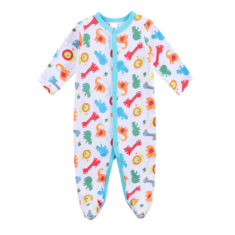 2018 New Baby Girl Newborn Klær Romper Long Sleeve Jumpsuits Spedbarn Produkt, Baby Rompers Summer Boy