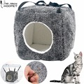 All Seasons Pet Dog Cat Comfortable Cube Shaped Hanging Hammock House Design Kitten Hung Bed Cozy Cave Pet Sleeping Bag