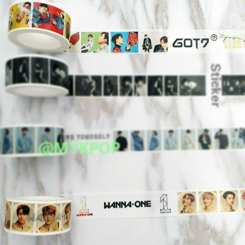 [MYKPOP]WANNA ONE GOT7 Boys DIY Diary Book Scrapbook Sticker KPOP Fans Collection SA18061812