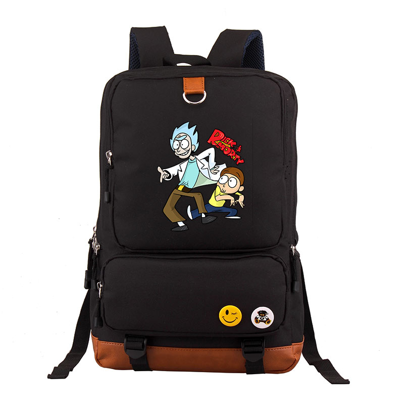 Rick and morty  bag adolescent mochila backpack for teenagers boys School travel Shoulder Bags student backpack brief adolescent therapy homework planner