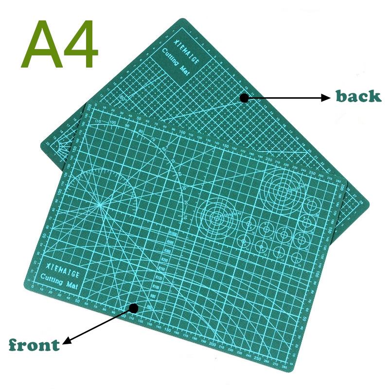 PVC Cutting Mat A4 Durable Self Healing Handmade DIY Quilting Accessories Flexible Green Patchwork Board Tool 30*22 Cm