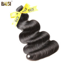 BAISI Hair,100% Unprocessed Human Hair Peruvian Body Wave 10A Raw Virgin Hair 3pcs/lot,Natural Color(China)