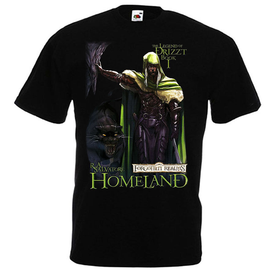 <font><b>Drizzt</b></font> Do'Urden Forgotten Realms Salvatore T-shirt Homeland Book Sizes S-3XL Cheap Sale 100 % Cotton T Shirts for Boys image