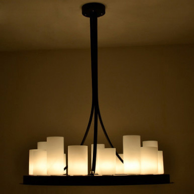 Nordic Romantic Candles Pendant Lights Fixture American Country Round Hanging Lamps Home Indoor Foyer Dining Room