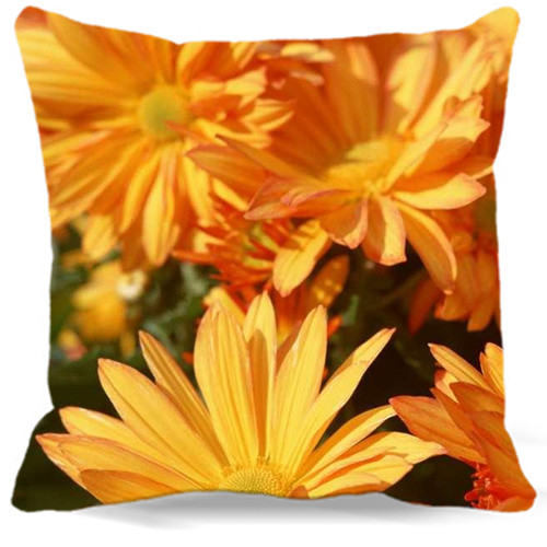 Top Quality Flowers Chrysanthemum Decorative Square Pillow Case Family Throw Cushion Cover For Gift Home Hotel Office 5 size 9 s