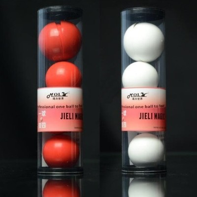 Deluxe Multiplying Balls (White or Red,43mm) One to Four balls Soft,Magic Tricks,Stage,Props,Comedy,Gimmick,Illusion,Magia Toys