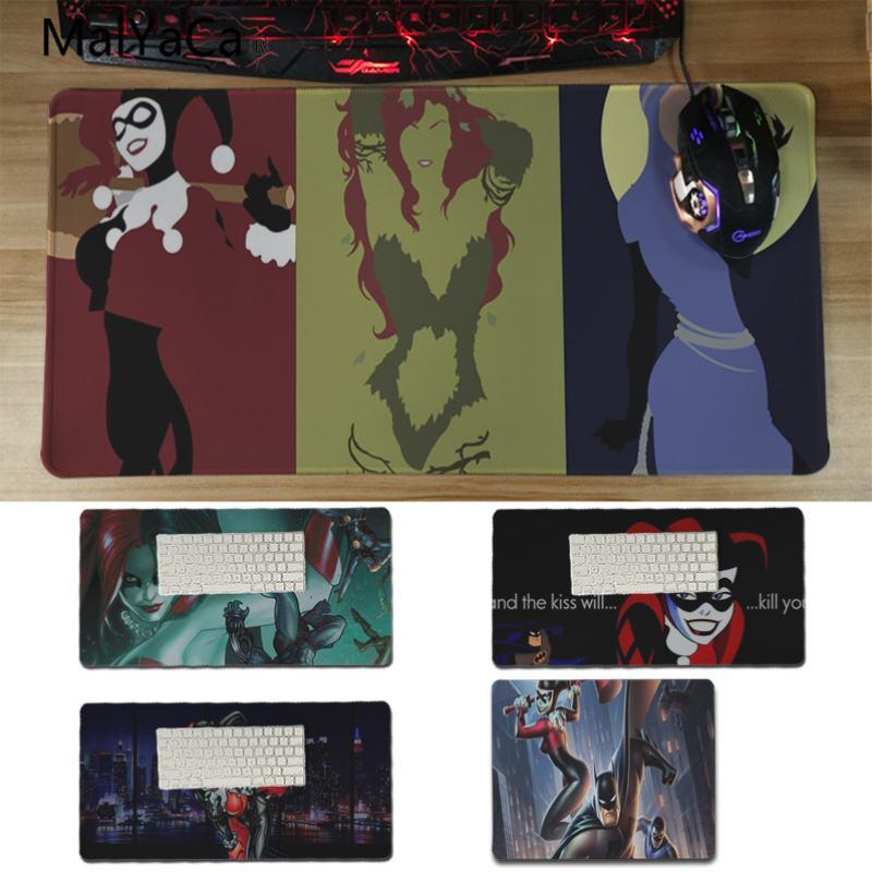 Yinuoda Cool New Anime Batman and Harley Quinn Anti-Slip Durable Silicone Computermats Size for 18x22cm 20x25cm 25x29cm 30x60cm