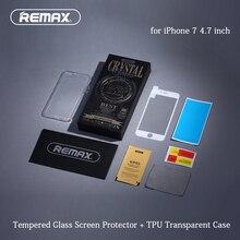 ТПУ Чехол + Закаленное Стекло для iPhone 7 4.7 дюймовый 3D Дуги край Полное Покрытие Экрана Протектор + Soft Прозрачный Ультра-Тонкий Корпус крышка