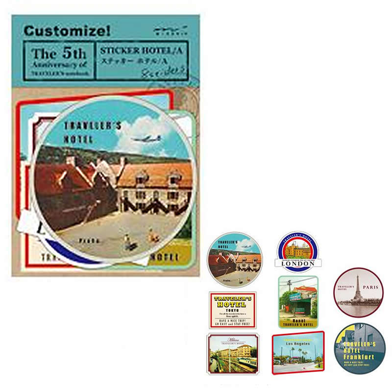 1 Set Retro Travel Journey Paper Stickers DIY Photo Ablum Diary Scrapbook Decor D14