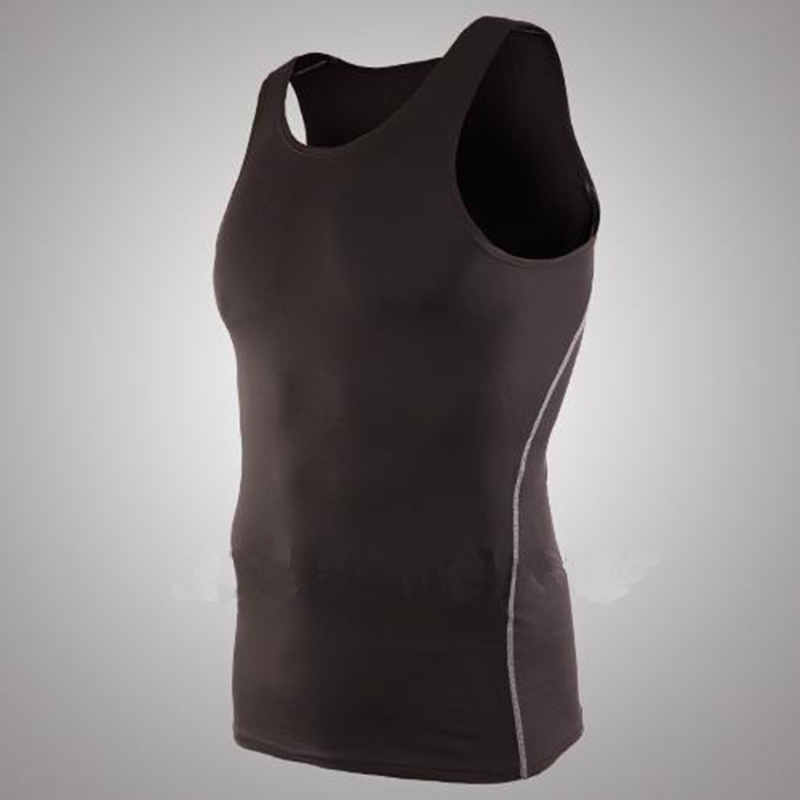 Mens Basketball Sports Tight Vest font b Running b font Training High Stretch Bottom Tank Tops