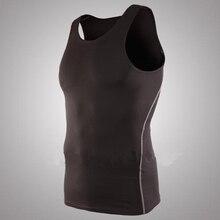 Mens Basketball Sports Tight Vest Running Training High Stretch Bottom Tank Tops For Men