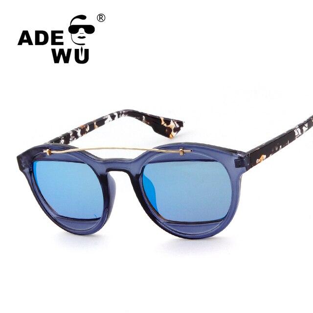 cff734c7b2ea ADE WU Brand No Logo Sunglasses Women Men Double Lens UV400 Retro Sunglasses  For Women 50 MM Frame Mirror Sun Glasses