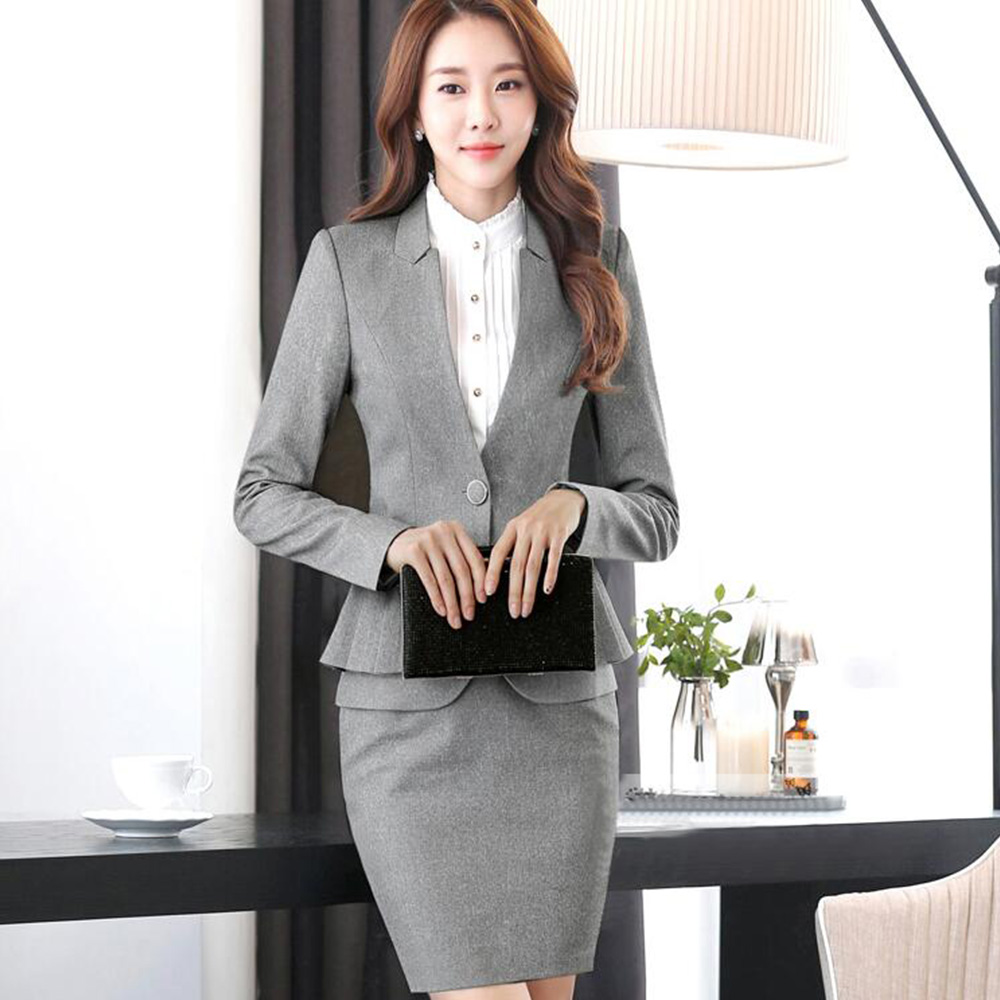 2017 New Long Sleeved Professional Women`s Suit Skirt Business Uniforms