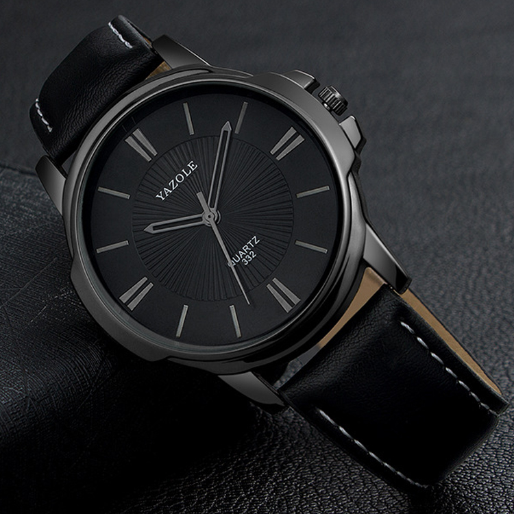 YAZOLE Black Wrist Watch Men Watches Top Brand Luxury Business Wristwatch New Male Quartz Watch For Men Clock Hours Hodinky Men