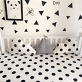 120x30cm black white clouds star shape baby crib bumper crib liner cotton curtain baby cot sets baby bed protector