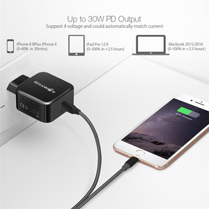 Image 3 - BlitzWolf 30W USB Type C Mobile Phone Charger PD+QC3.0 Fast Charger EU/AU Adapter Wall Travel Charger For iPhone 11 X Pro Max 8