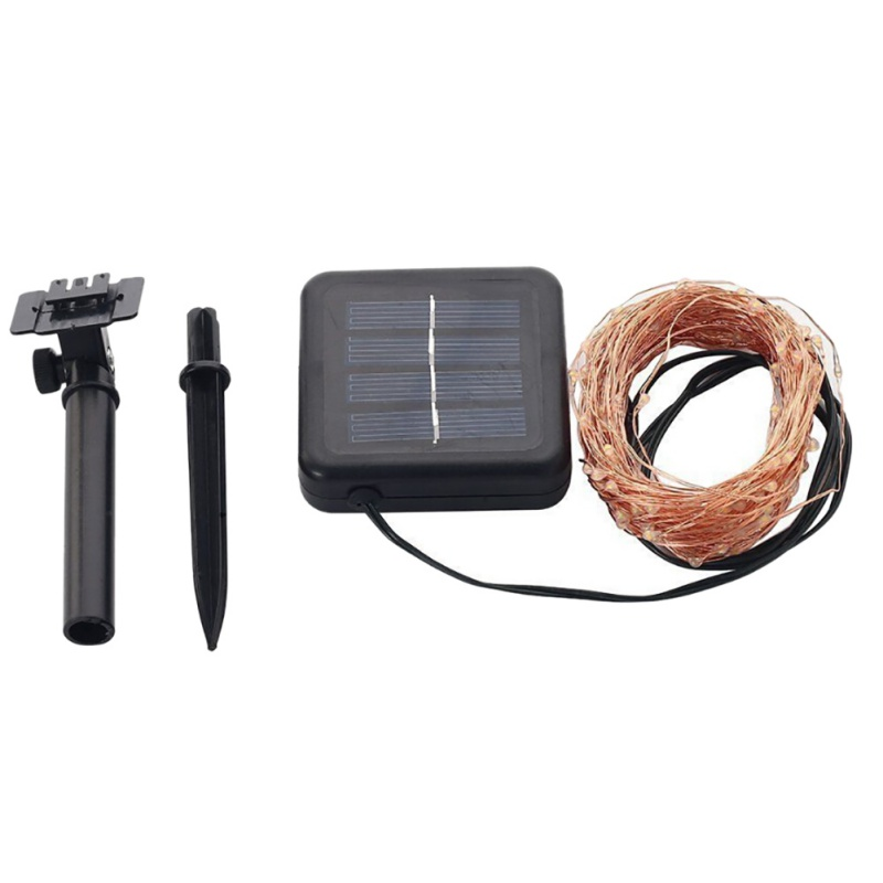 LED Solar String Lampe Fairy Light Julelys 10M 100 LED 5m 50led - Ferie belysning - Foto 2