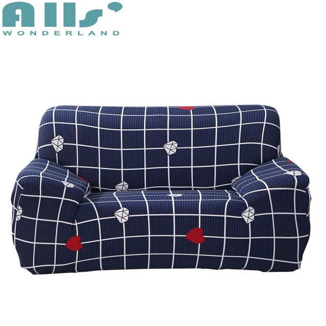 Couch Cover Plaid Sofa Slipcovers For Living Room Fashion Reclining Chair Modern Stretch Furniture Covers Fabric