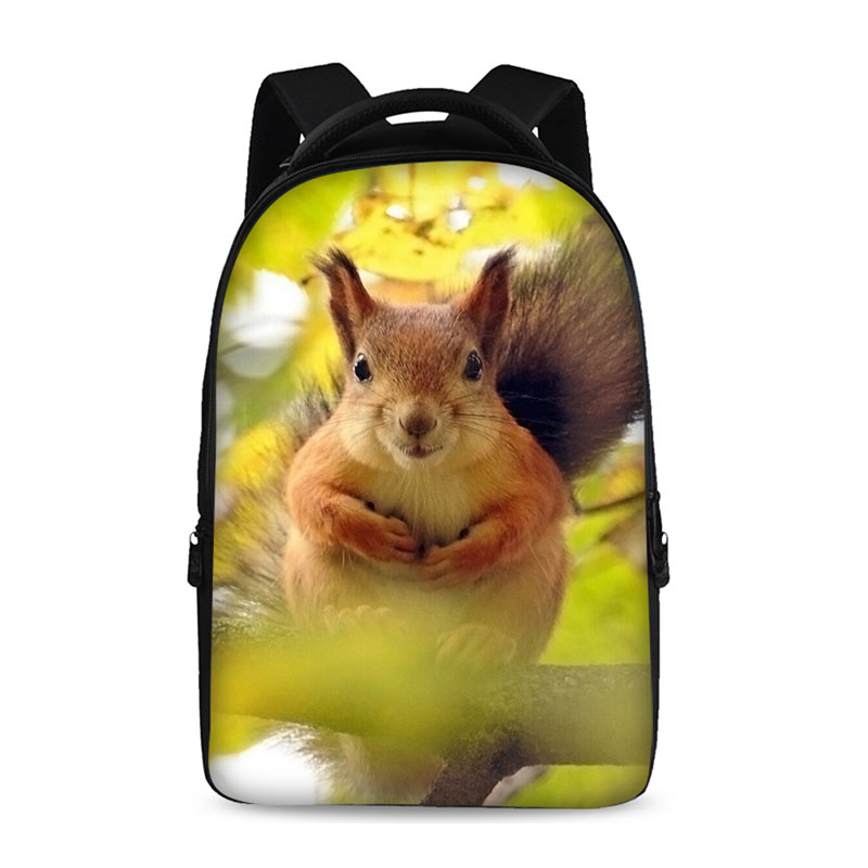 Forest squirrels Backpacks For Teens Computer Bag Fashion School Bags For Primary Schoolbags Fashion Backpack Best Book Bag