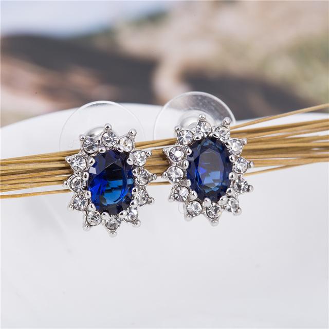 Fashion Blue Crystal Jewelry Set