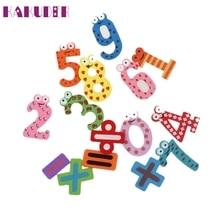 KAKUDER Top Grand 15pcs Fridge Magnets Early Learning Educational Toys Wooden Math Sticker DIY poster vinilos