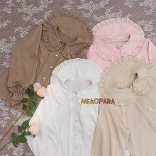 Linda camisa de gasa para mujer, Blusa plisada de acordeón Vintage, bordes con hebras diarios, Linda manga corta de 4 colores/manga larga