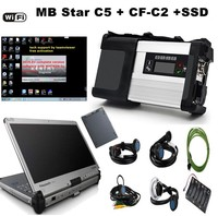 MB star C5 car diagnostic tool latest 2019.03 software and SD connector C5 support WIFI and I5/4g Panasonic CF C2 CF C2 Laptop