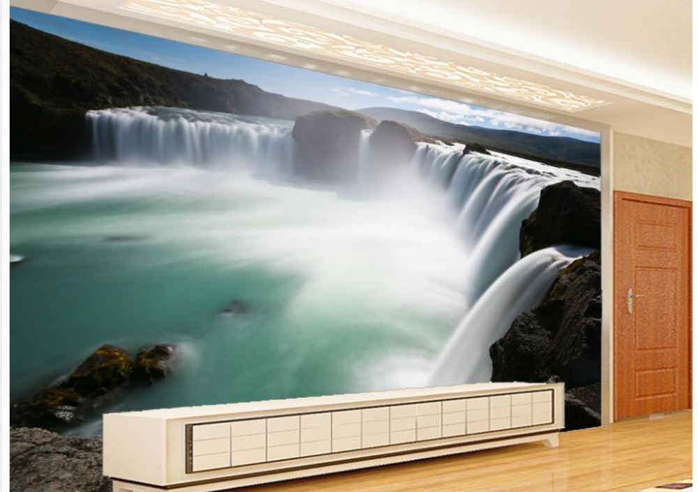 Custom any size Waterfall Landscape Background Wall waterfall customized wallpaper for walls 3d murals