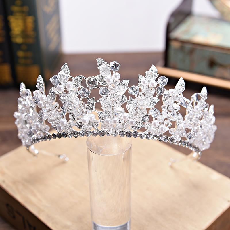 Bridal Tiaras and Crowns Gold Silver Hair Crown Full Crystal Rhinestone Queen Crown for Women Wedding Hair Jewelry Accessories 2017 new pink gold silver king crowns handmade tiaras brides headband crystal bridal diadem queen crown wedding hair accessories