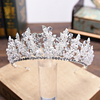 Bridal Tiaras and Crowns Gold Silver Hair Crown Full Crystal Rhinestone Queen Crown for Women Wedding Hair Jewelry Accessories