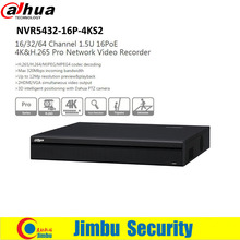 Original Dahua 32ch NVR NVR5432-16P-4KS2 P2P Network Video Recorder H.265/H.264 1.5U 4K Pro 16PoE ports Up to 12Mp resolution