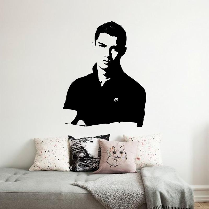 Art Design Cheap Vinyl Home Decoration Football Player