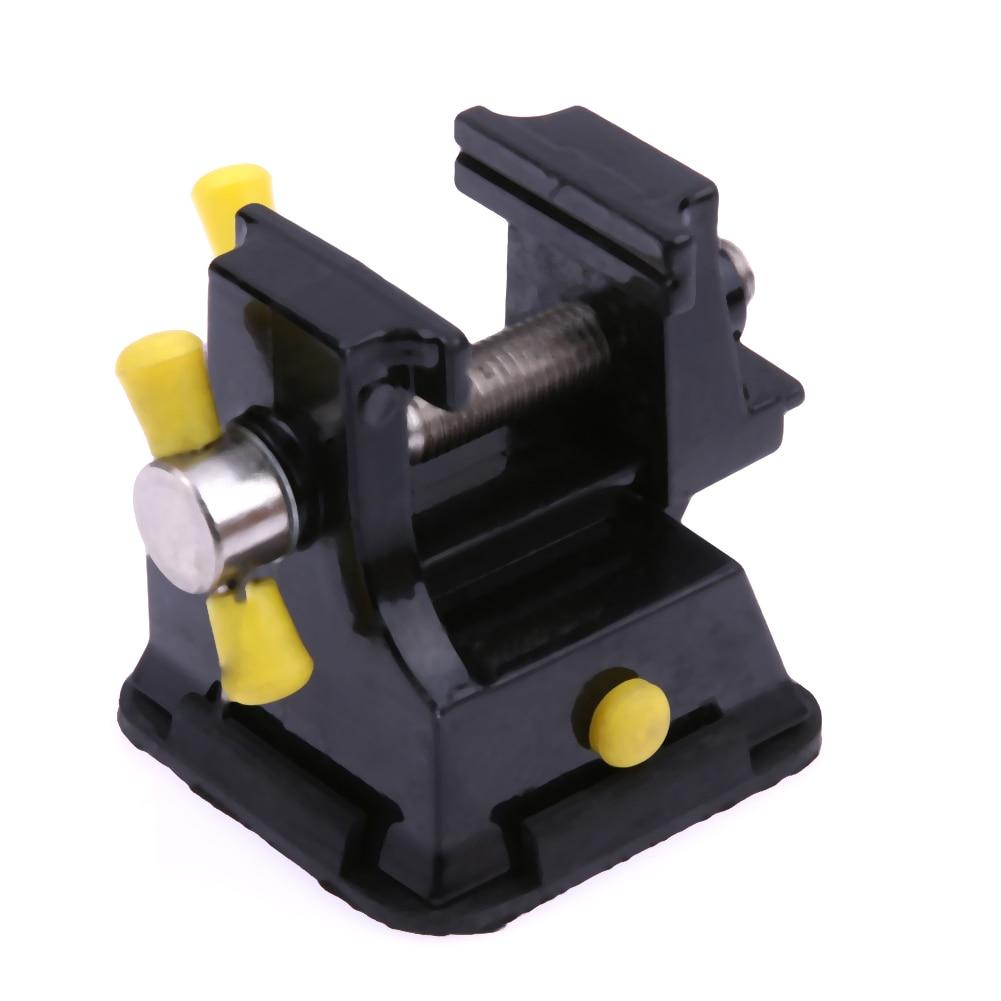 Mini space saving diy metal home table bench vise press