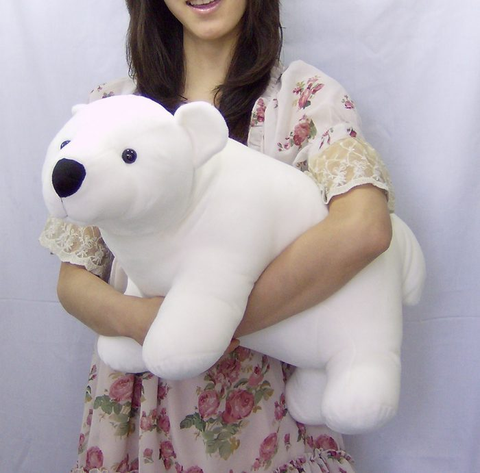 ФОТО middle size cute The polar bear toy white standing polar bear doll gift about 42cm