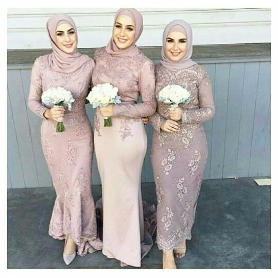 3 style blush pink muslim cheap bridesmaid dresses with for Cheap wedding dresses cape town