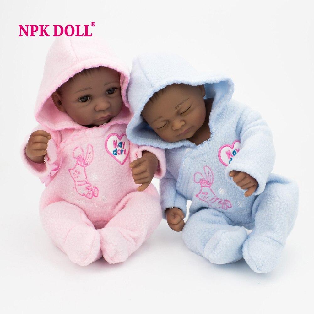 Npkdoll 28 Cm 10 Inch Lifelike Mini Reborn Baby Twins