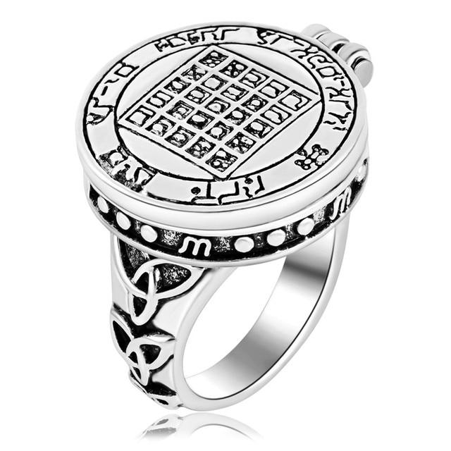 ezei talisman pentacle of solomon seal rings hermetic enochian kabbalah pagan wiccan jewelry - Wiccan Wedding Rings