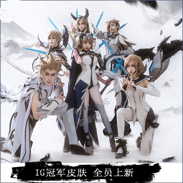 2019 New Sale LOL Game cosplay costume champion the Grand Duelist Deceiver Leblanc Irelia Kaisa full members champion skin suit in Anime Costumes from Novelty Special Use