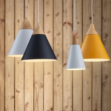 LED indoor and outdoor lighting  Dining Room Pendant Lamp Modern Colorful Restaurant Coffee Lighting Iron Solid Wood E27 Holder vintage wicker hemp rope iron pendant lamp parlor coffee house bookshop bar dining room indoor lighting e27 lamp holder 110 240v