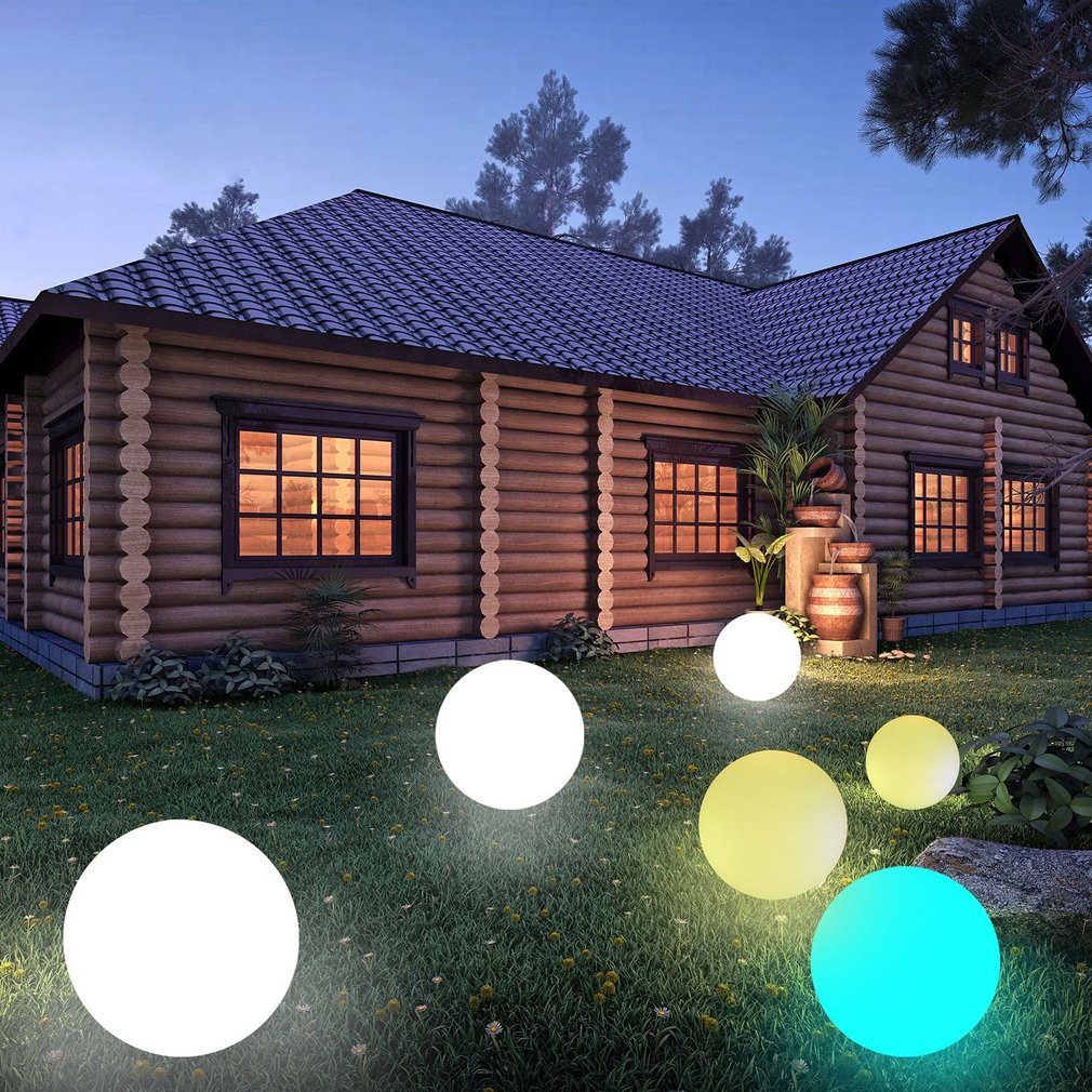 Seven-color Light Solar Powered Color Changing Water Floating Ball Lamp LED Outdoor Underwater Light For Yard Pond Garden Pool