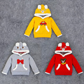 Free Shipping 5 Pieces/lot Autumn children long sleeved sweater hooded cotton Turtleneck Cartoon Shirt 3 colors