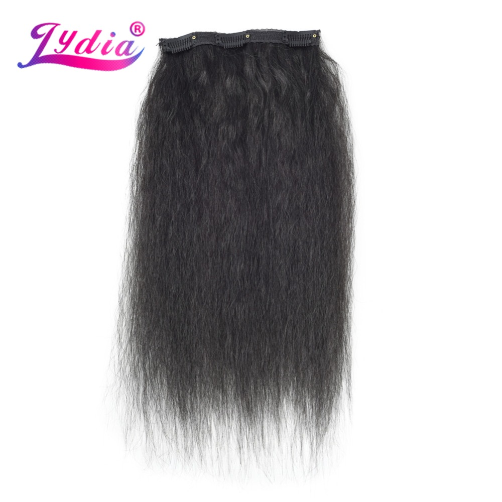 HTB1foRIeTZmx1VjSZFGq6yx2XXa4 - Lydia 8Pcs/set 18 Clips In Hair Hairpieces 16-20 Inch Kinky Straight Long Synthetic Heat Resistant Hair Extensions Bundles